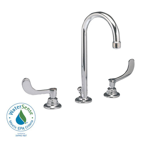 American Standard 6531.170.002 Monterrey Widespread Gooseneck Lavatory Faucet with Pop-Up Drain, Chrome 980038