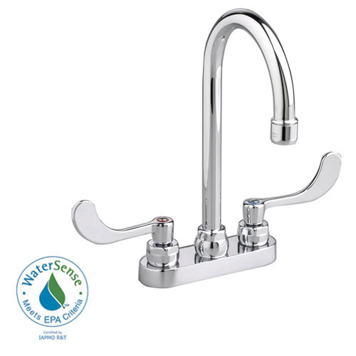 American Standard Monterrey 4 inch Centerset 2-Handle High-Arc Bathroom Faucet in Polished Chrome with Pop-Up Drain Rod 980146