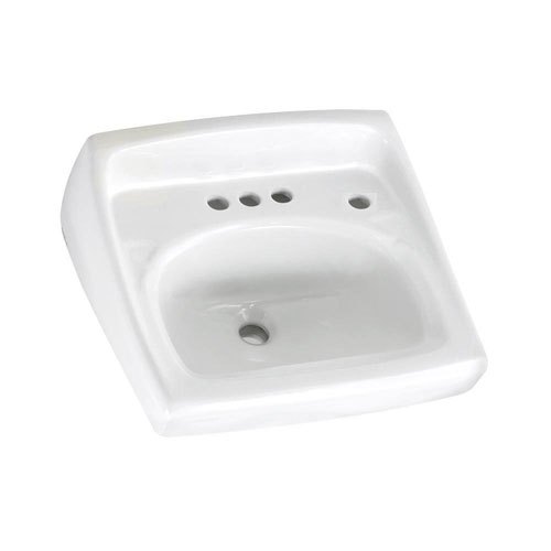 American Standard Lucerne Wall-Mounted Bathroom Sink in White 993106