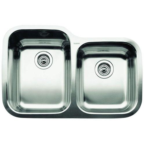 Blanco Supreme Undermount Stainless Steel 20 inch 0-Hole 1-3/4 Bowl Kitchen Sink 149216