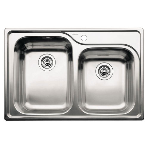 Blanco Supreme Drop- In Stainless Steel 33x22x8 1-Hole 1-3/4 Bowl Kitchen Sink 165453