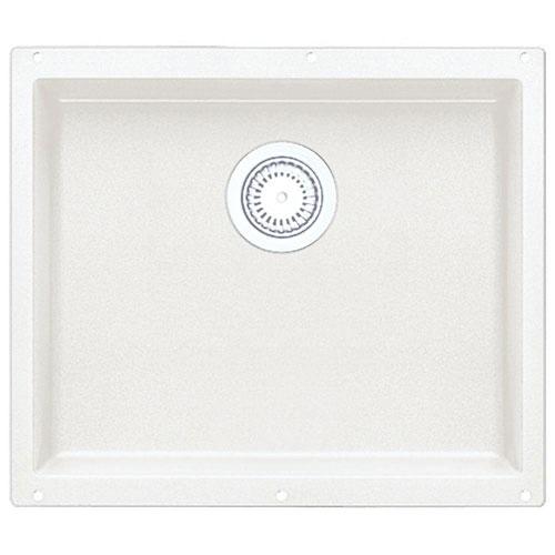 Blanco Precis Undermount Granite 20.75 inch 0-Hole Single Bowl Kitchen Sink in White 335365