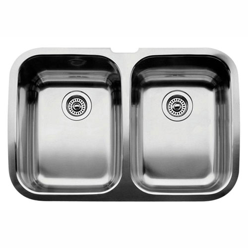 Blanco Supreme Undermount Stainless Steel 32 inch 0-Hole Equal Double Bowl Kitchen Sink 359149