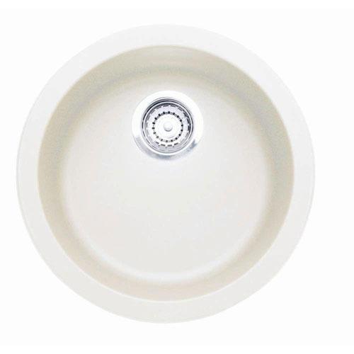 Blanco Rondo Dual Mount Granite Composite 17.7 inch 1-Hole Single Bowl Bar Sink in White 376285