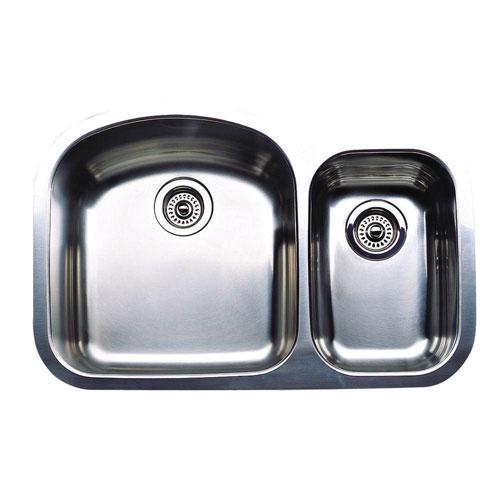 Blanco Wave Plus Undermount Stainless Steel 31.5 inch 0-Hole 1-1/2 Bowl Kitchen Sink 376329