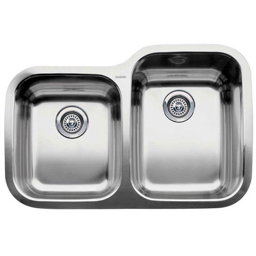 Blanco Supreme Undermount Stainless Steel 31.3x20.9x10 0 Hole 1-3/4 inch Reverse Bowl Kitchen Sink 376353