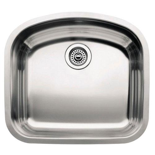 Blanco Wave Plus Undermount Stainless Steel 20.5 inch 8-inch depth 0-Hole Single Bowl Kitchen Sink 439545