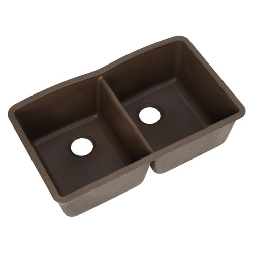 Blanco Diamond Undermount Composite 22x33x9.5 0-Hole Double Bowl Kitchen Sink in Cafe Brown 462583