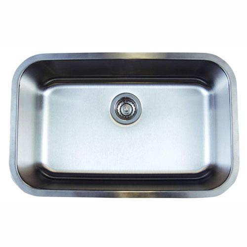 Blanco Stellar Undermount Stainless Steel 28x18x9 1-Hole Single Bowl Kitchen Sink 464486