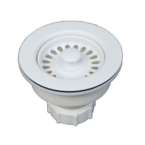 Blanco 3-1/2 inch Decorative Basket Strainer in White 478166