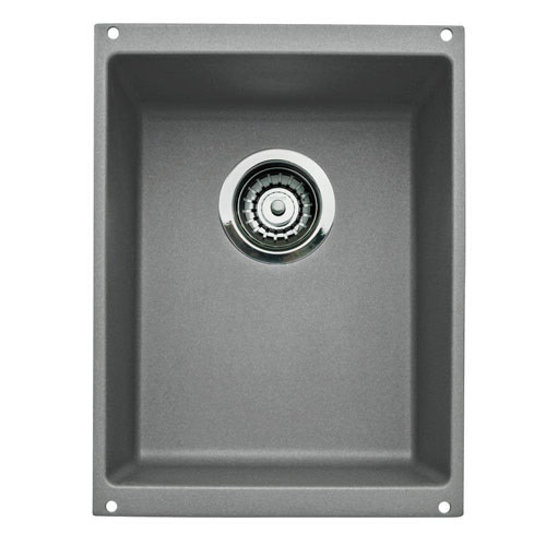 Blanco Precis Medium Bowl Undermount in Metallic Gray 478863