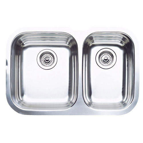 Blanco Niagara Undermount Stainless Steel 27.5x18.13x8 0-Hole 1-1/2 inch Bowl Kitchen Sink 482509