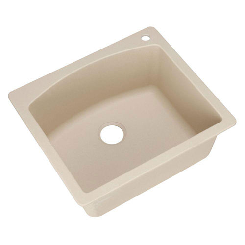 Blanco Diamond Dual Mount Composite 25x22x10 1-Hole Single Bowl Kitchen Sink in Biscotti 509536