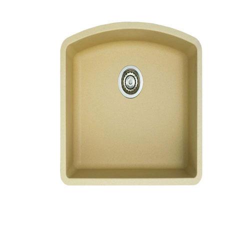 Blanco Diamond Undermount Granite 24 inch 0-Hole Single Bowl Kitchen Sink in Biscotti 509538