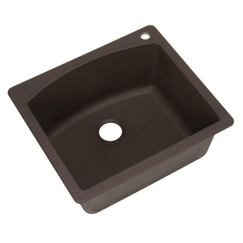 Blanco Diamond Dual Mount Composite 22x10x25 1-Hole Single Bowl Kitchen Sink in Cafe Brown 509539