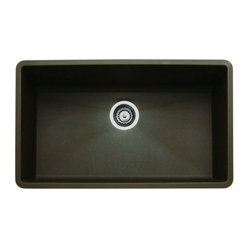 Blanco Precis Super Undermount Composite 32x18.75X9.5 0-Hole Single Bowl Kitchen Sink in Cafe Brown 509566
