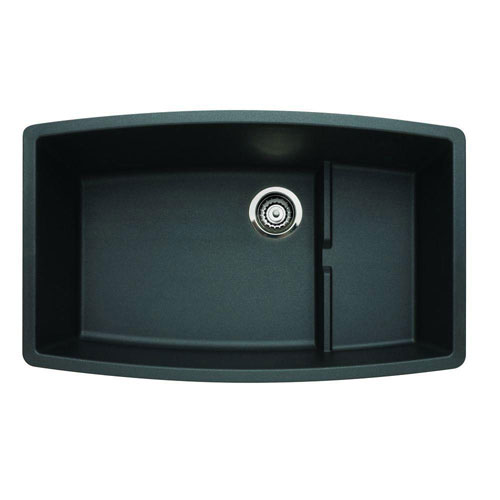 Blanco Performa Undermount Composite 32x19.5x10 0-Hole Single Bowl Kitchen Sink in Anthracite 524306
