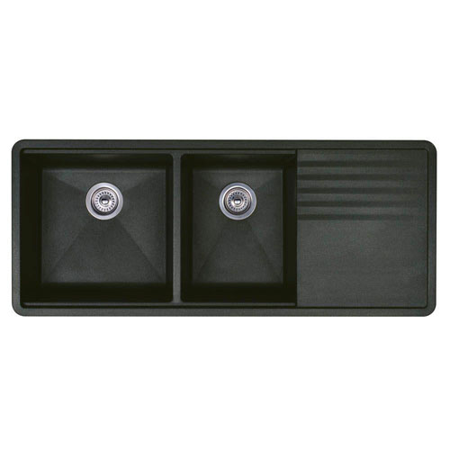 Blanco Precis Undermount Composite 48x20x9.5 0-Hole Double Bowl Kitchen Sink in Anthracite 524318