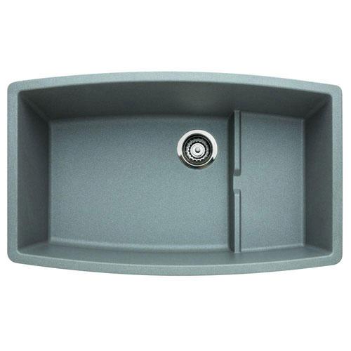 Blanco Performa Undermount Composite 32x19.5x10 0-Hole Single Bowl Kitchen Sink in Metallic Gray 524323