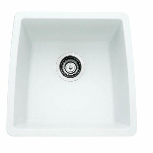 Blanco Performa Undermount Composite 17.5x17x9 0-Hole Single Bowl Kitchen Sink in White 524344