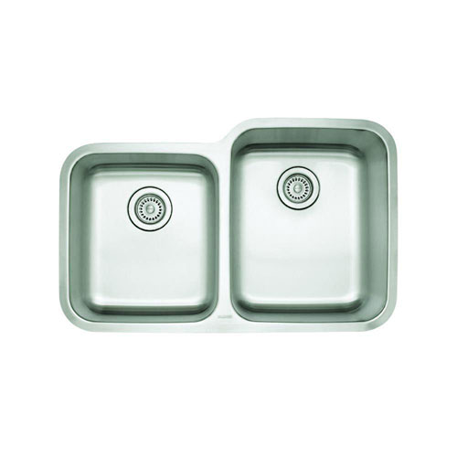 Blanco Stellar Undermount Stainless Steel 32 inch 0-Hole 1-3/4 Reverse Double Bowl Kitchen Sink 537960