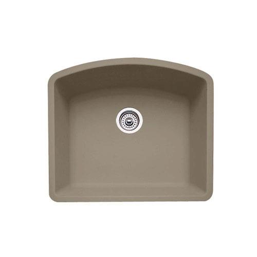 Blanco Diamond Undermount Granite 24 inch 0-Hole Single Bowl Kitchen Sink in Truffle 537972