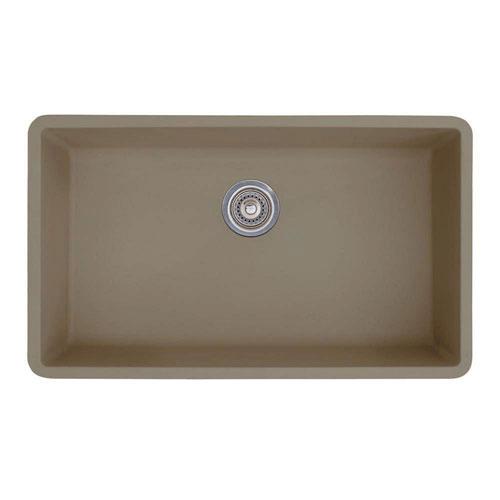 Blanco Precis Super Undermount Granite 32 inch 0-Hole Single Bowl Kitchen Sink in Truffle 537988