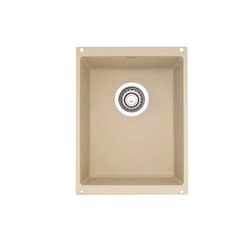 Blanco Precis Undermount Granite 18 inch 0-Hole Single Bowl Kitchen Sink in Biscotti 538024