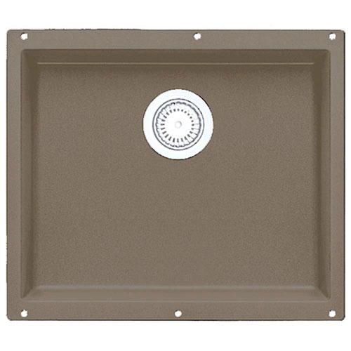 Blanco Precis Undermount Granite 20 inch 0-Hole Single Bowl Kitchen Sink in Truffle 538027