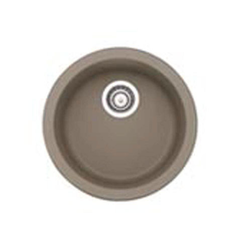 Blanco Rondo Dual Mount Composite 17.7x17.7x9.63 1-Hole Single Bowl Bar Sink in Truffle 547336