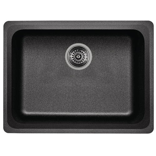 Blanco Vision Undermount Composite 24x18x8 0-Hole Single Bowl Kitchen Sink in Anthracite 573769