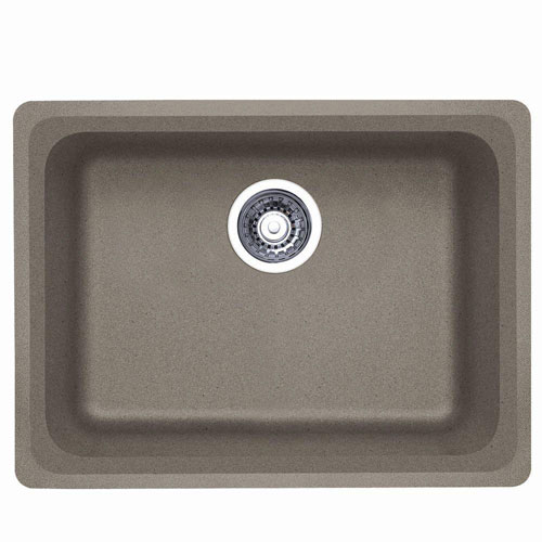 Blanco Vision Undermount Composite 24x18x8 0-Hole Single Bowl Kitchen Sink in Truffle 573772