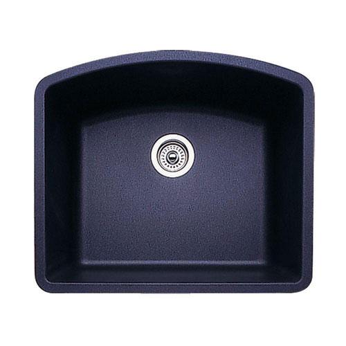 Blanco Diamond Undermount Granite 24 inch 0-Hole Single Bowl Kitchen Sink  in Anthracite 715721