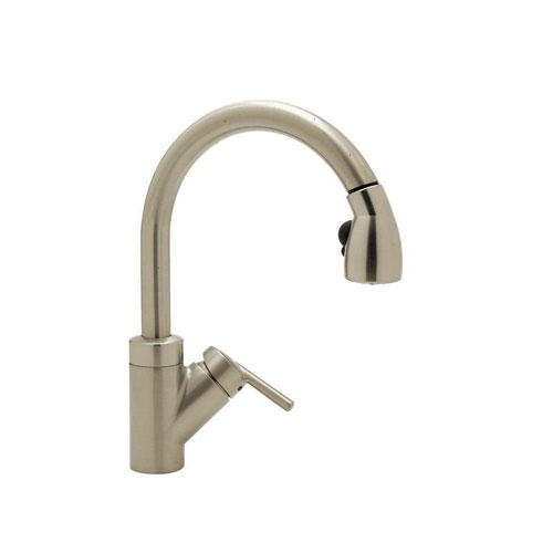 Blanco Rados Single-Handle Pull-Down Sprayer Kitchen Faucet in Satin Nickel 798153