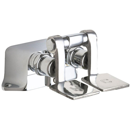 Chicago Faucets Hot and Cold Water Pedal Box with Short Pedals in Chrome 469183