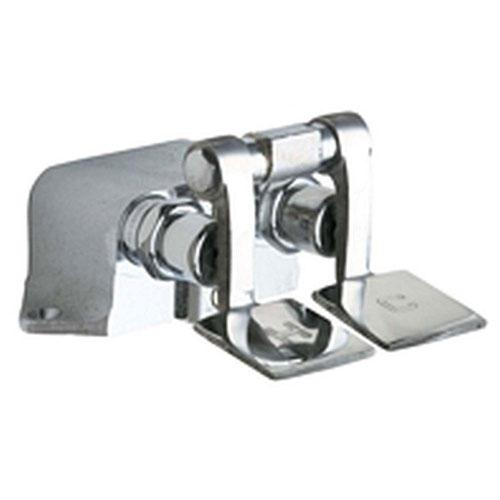 Chicago Faucets 625-ABRCF Floor Mount Double Pedal Valve, Rough Chrome 469184