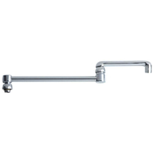 Chicago Faucets 18 inch Solid Brass Chrome Finish Double-Jointed Swing Spout 637999