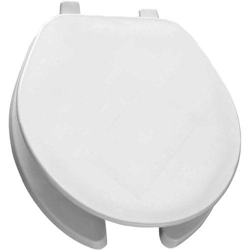 Bemis Round Open Front Toilet Seat in White 222077