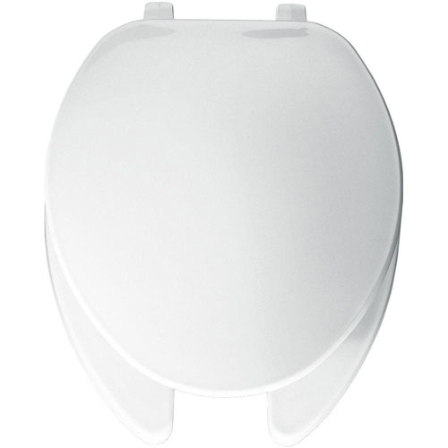 Bemis Elongated Open Front Toilet Seat in White 26024