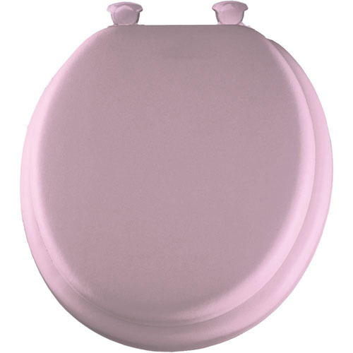 Bemis Soft Round Closed Front Toilet Seat in Pink 294501