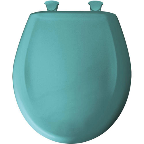 Bemis Slow Close STA-TITE Round Closed Front Toilet Seat in Classic Turquoise 385657