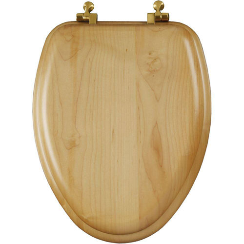 Mayfair Natural Reflections Elongated Closed Front Toilet Seat in Maple Veneer 452029
