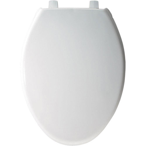 Bemis STA-TITE Elongated Closed Front Toilet Seat in White 463094