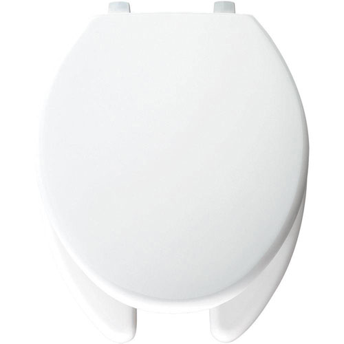 Bemis STA-TITE Elongated Open Front Toilet Seat in White 463095