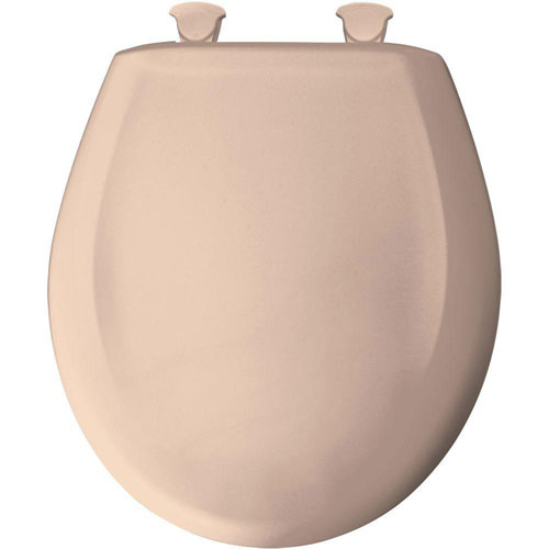 Bemis Slow Close STA-TITE Round Closed Front Toilet Seat in Desert Bloom 463301