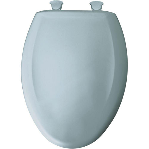 Bemis Slow Close STA-TITE Elongated Closed Front Toilet Seat in Heron Blue 478449