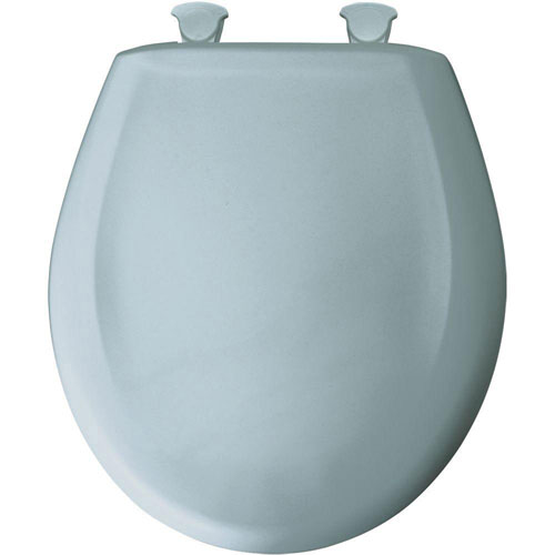 Bemis Slow Close STA-TITE Round Closed Front Toilet Seat in Heron Blue 481033