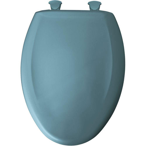 Bemis Slow Close STA-TITE Elongated Closed Front Toilet Seat in Regency Blue 496450