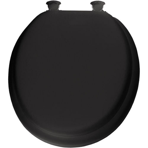 Bemis Lift-Off Soft Round Closed Front Toilet Seat in Black 506069