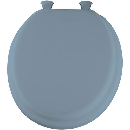 Mayfair Lift-Off Soft Round Closed Front Toilet Seat in Sky Blue 522917